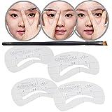 Premium Qualität Komplettes Augen Make Up Makeup Werkzeug Tools Set Kit Holz Kosmetikpinsel Gebogen Und Augenbrauen Former Schablonen Von VAGA®