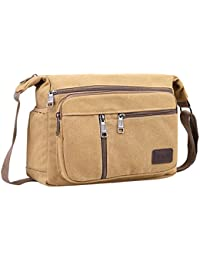 32ee6b37e4 BOMKEE Water Resistant Canvas Crossbody Bag Messenger Bag Satchel Shoulder  Sling Working Bag Bookbag Briefcase for