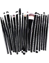 15 piezas Brocha Para Maquillaje Set de herramientas Base Polvo Kit Lana
