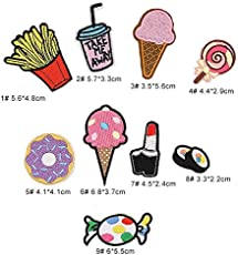 iDream Iron on Patches Embroidery Applique Decoration for Clothes L1-S16 (Pack of 9)