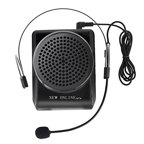 YOHOOLYO Amplificador de Voz Portátil Ultraligero con Micrófono y Clip de Cinturón Formato MP3 Audio para Profesores Guías Entrenadores Etc.