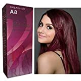 #9: Berina Permanent Hair Dye Color Cream # A8 Burgundy Made in Thailand By Sellgreat1449.