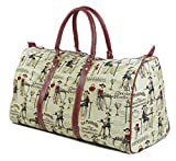 Tapestry Weekend Holdall/Luggage Bag/Travel Bag (large) Cafe - Gobelin Style