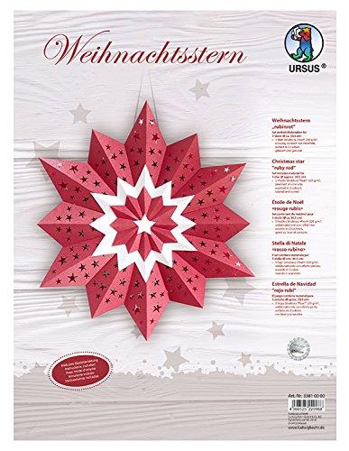 Ursus 33810000 Weihnachtsstern, Rubinrot (Weihnachtsstern Pearl)