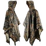 bonor Waterproof Rain Protection Adult Poncho Protection de adulte Cape de taille standard avec capuche vinyle Jacket Veste de pluie Camping Compact Outdoor