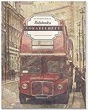 DÉKOKIND Vokabelheft   DIN A4, 84 Seiten, 2 Spalten, Register, Vintage Softcover   Dickes Vokabelbuch   Motiv: London Bus