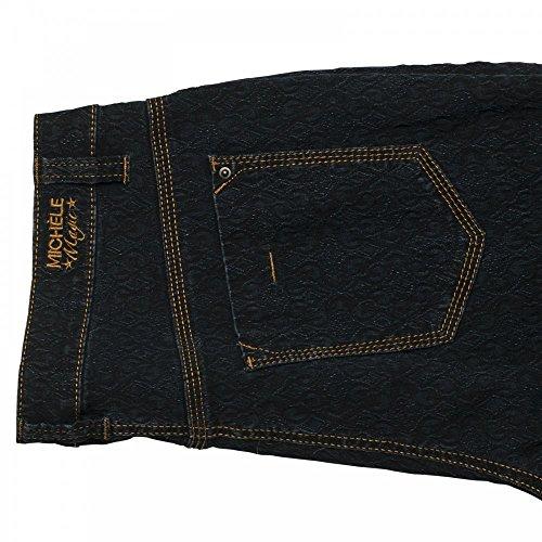 Michele Jacquard Print Jeans Navy