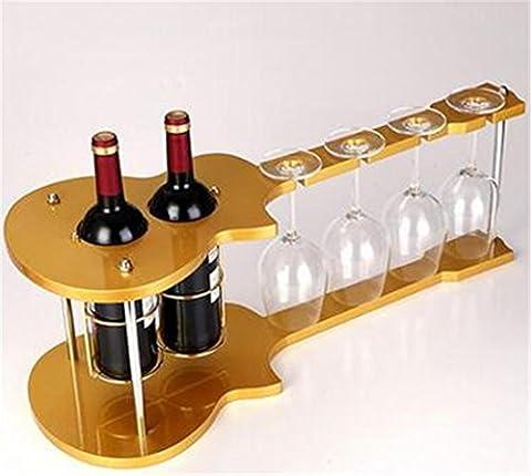 YANFEI Casier à vin Bouteille de cales classique en bois de votre favori vin Creative Accueil violon forme porte-bouteilles présentoirs