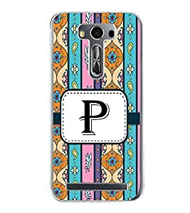 Fiobs Designer Back Case Cover for Asus Zenfone Selfie ZD551KL (Floral Pattern Design Alphabet P)