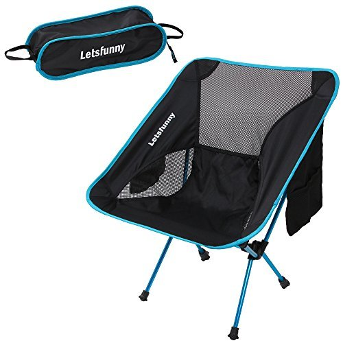 LetsFunny Klapp Camping Stuhl Portable Leichte Rucksack Stühle Compact Heavy Duty mit Tragetasche für Wandern Picknick Beach Camp Backpacking Festivals im Freien (Beach Chair Folding Nylon)
