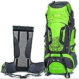 Best External Frame Backpacks - GUGULUZA 75L +5L External Frame Hiking Backpack Outdoor Review