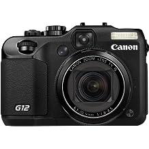 """Canon PowerShot G12 - Cámara digital compacta de 10 MP (pantalla articulada de 2.8"""", zoom óptico 5x, estabilizador de imagen óptico, vídeo Full HD 720p), color negro [Importado]"""