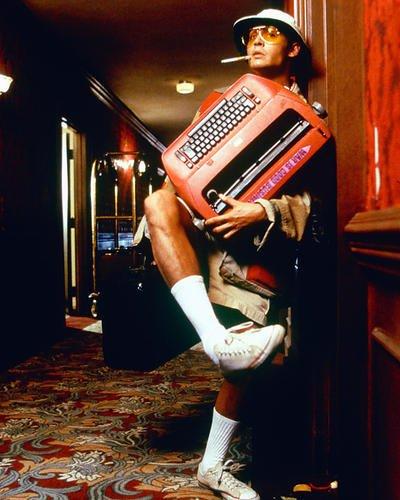 Loathing Depp And Johnny Fear Kostüm - Moviestore Johnny Depp als Raoul Duke/Hunter S. Thompson in Fear and Loathing in Las Vegas 25x20cm Farbfoto