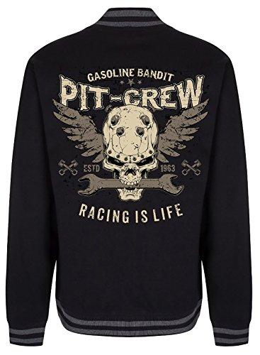 GASOLINE BANDIT® Design - Rockabilly College Baseball-Jacke: Pit Crew M (Crew Racing Pit Shirt)