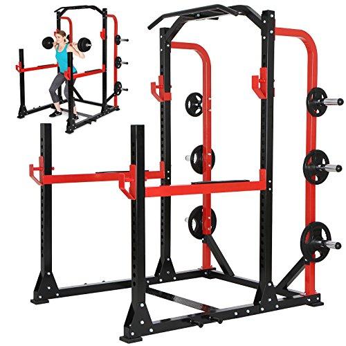Physionics - Aparato de fitness multifunción - máquina de gimnasio para sentadillas, dominadas y otros ejercicios