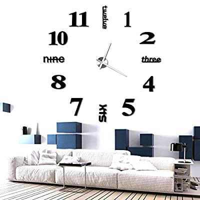 Anpro Orologio da Parete con Numeri Adesivi 3D,Perfetta Decorazione ...