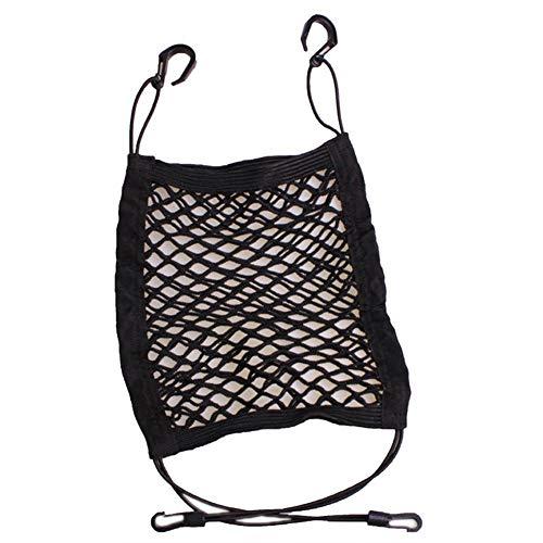 ZHIXX MALL Netztasche mit Klettverschluss Gepäcknetz mit 4 Haken Auto Rücksitz Organizer Schutznetz Autositz Aufbewahrung Ablage Kofferraumnetz Auto Organizer Hängetasche