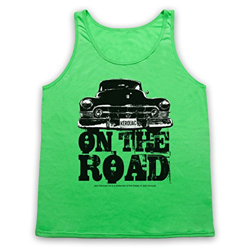 Jack Kerouac On The Road Car Tank-Top Weste Neon Grun