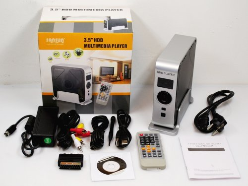 Sansun HDD Multimedia Player für 8,9cm (3.5 Zoll) IDE Festplatten SN-3.5MPCI (DIVX / XVID / MPG / VOB / MP3 / OGG / JPEG)
