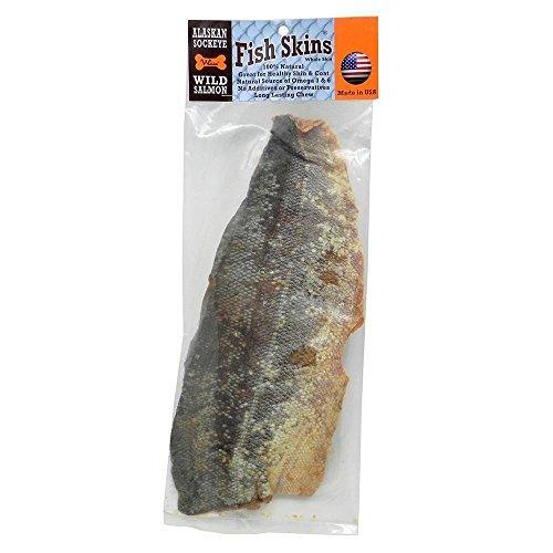 Aussie naturals tutta la striscia di pesce salmone selvaggio dell'alaska
