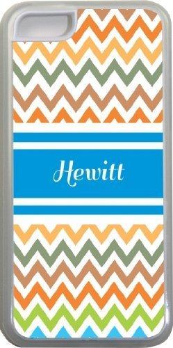 Hewitt Chevron Bleu Nom Design Iphone 5C Coque (Transparent) avec protection pare-chocs en caoutchouc pour Apple iPhone 5C Étui vendre sur zeng