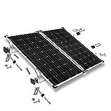 Offgridtec© Befestigungs-Set für 2 Solarmodule - Wellethernit- und Blechdach