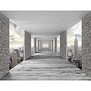 Fototapete 3D New York Vlies Wand Tapete Wohnzimmer Schlafzimmer Büro Flur Dekoration Wandbilder XXL Moderne Wanddeko - 100% MADE IN GERMANY - NY Stadt City Runa Tapeten 9157010a