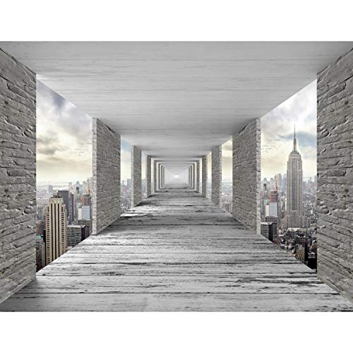 *Fototapeten 3D New York 352 x 250 cm Vlies Wand Tapete Wohnzimmer Schlafzimmer Büro Flur Dekoration Wandbilder XXL Moderne Wanddeko – 100% MADE IN GERMANY – NY Stadt City Runa Tapeten 9157011a*