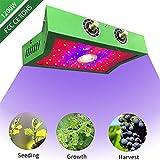 1200W LED COB Lampada per Piante, impianti dimmerabili di doppio chip di spettro completo che coltivano le lampade per la tenda dell'interno del fiore della verdura