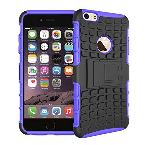 """iPhone 6S Plus Coque AOFad Béquille Vidéo Protection des lourds orange noir Plastique TPU Hybride Antiskid 2 à 1 Série Pour Femme Homme Accessoires Case 5.5"""" Q028 AOFad Style 102"""