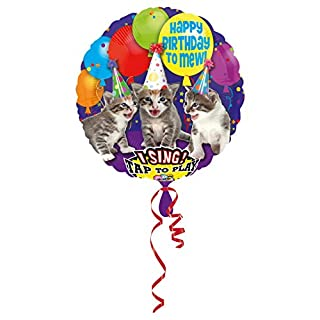 Anagram International 3062601 Happy Birthday To Mew S-A-T Balloon, 28