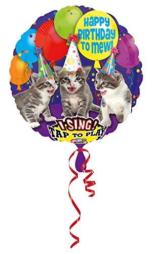 amscan 3062601 Folienballon Sing-A-Tune Happy Birthday