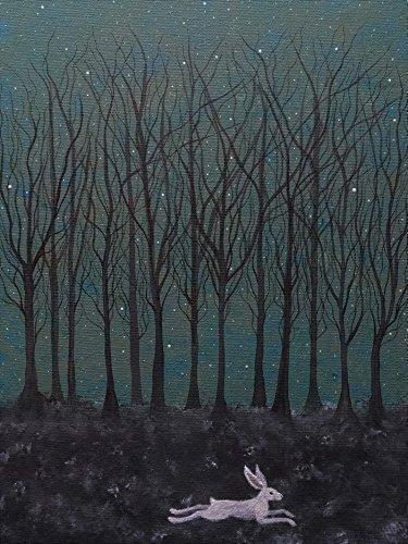 the-hare-ran-through-starlit-woods-art-print