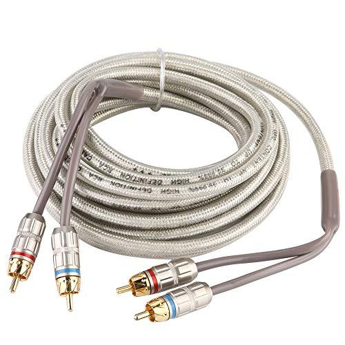 Akozon Cinch Kabel 5m Car Home Stereo Audio Cinch-Signalkabel Verstärker Subwoofer-Kabel Kabeladapter Home-audio-subwoofer