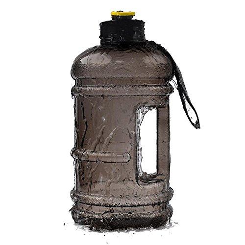 DrafTor 2.2L Trinkflasche Sportflasche BPA Frei Fitness Trinkflasche Sport Wasser Flasche Wasserkocher für Dein Training Fitness Sport Training Outdoor (Schwarz)