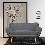 Canapé Fanilife Canapé fixe 2 places Dossier Canapé Lit tyle Scandinave et Tendance avec des pieds en bois 153 x 84 x 87CM