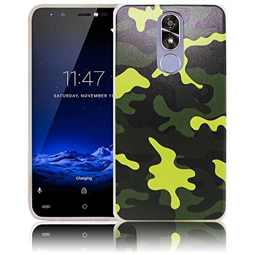 thematys Passend für Cubot R9 Camouflage Silikon Schutz-Hülle weiche Tasche Cover Case Bumper Etui Flip Smartphone Handy Backcover Schutzhülle Handyhülle
