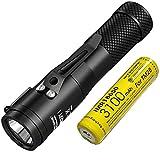3100 mAh 10 A Akku: 2017 Nitecore C1 1800 Lumen CREE XHP35 HD E2 LED Taschenlampe + IMR 18650 wiederaufladbarer Akku, magnetischer Rückdeckel Concept 1 EDDC Taschenlampe