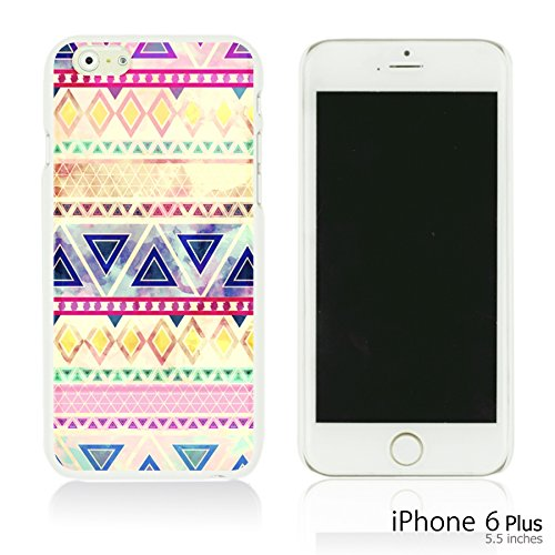 OBiDi - Geometrical Pattern Hardback Case / Housse pour Apple iPhone 6 Plus / 6S Plus (5.5)Smartphone - Funny Tribal Print Purple Pink Watercolor Aztec Pattern