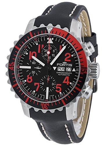 Fortis Orologio da polso uomo aquatis Marine Master Rosso Cronografo Data Giorno della settimana analogico automatico 671.23.43l.01