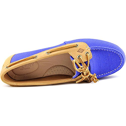 Sperry Top-Sider  Firefish Stripe Leather Fabric, Damen Bootsportschuhe grau grau Baltic Blue