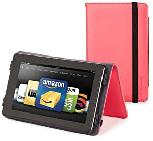 Marware Eco-Vue Genuine Leather Cover for Kindle Fire, Pink (will only fit Kindle Fire)