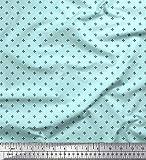 Soimoi Blau Seide Stoff halb~POS=TRUNC Hemdenstoff Stoff