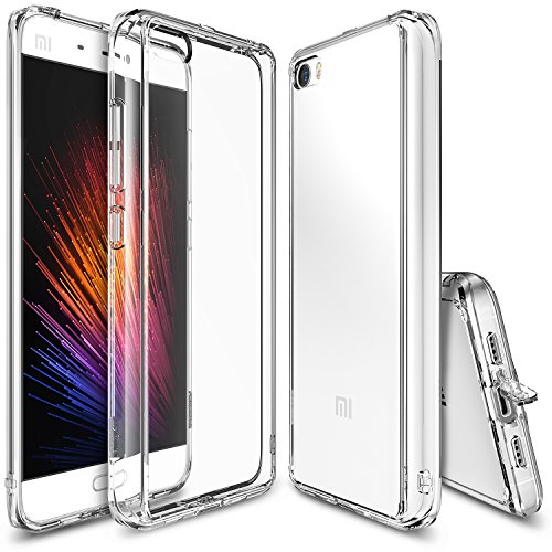 Funda Xiaomi Mi 5, Ringke [FUSION] Choque Absorción TPU Parachoques [Choque Tecnología Absorción][Conviviente tapón antipolvo] para Xiaomi Mi 5 - Crystal View