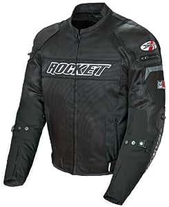 Joe Rocket Resistor Men's Mesh Motorcycle Jacket (Black/Black, Medium)