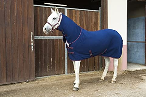 First Chemise Polaire Combo Pour Cheval - Bleu Marine - Marine/rouge - 6'3