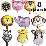 Sunshine smile Palloncini Testa Animale,Animale Foglio di Alluminio Palloncino,Palloncini Animali Giungla,Palloncini Animali Elio,Palloncini ad Elio Decorazione (8)