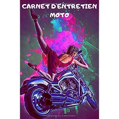 Carnet d'entretien moto: | Accessoire moto carnet entretien moto avec pages préfabriquées | Accessoires moto | Entretenir sa moto | Mecanique moto