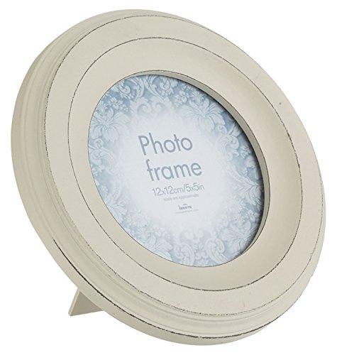 Innova Editions Bilderrahmen Casa, rund, aus MDF, 12,5cm Durchmesser, Maggiore II, Weiß, Casa, 12.5cm Diameter