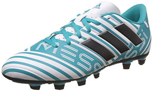 adidas Nemeziz Messi 17.4 FxG, Zapatillas de fútbol Sala para Hombre, Blanco (Ftwbla/Tinley / Azuene), 41 1/3 EU